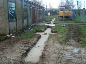 May 2008 - footings for ground work