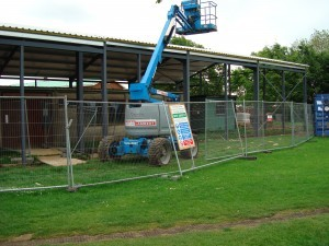 May 2008 - Steel structure being erected