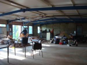 October 2008 - dismantling the old Scout hut