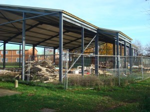 November 2008 - Structure without Scout hut